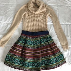Anthropologie skirt and sweater